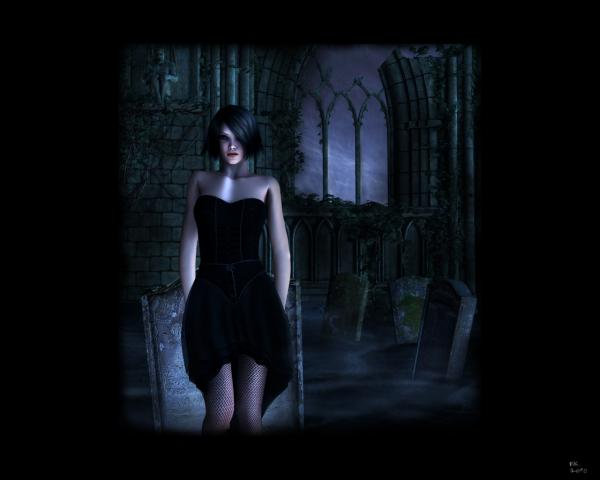 Gothic Night Girl