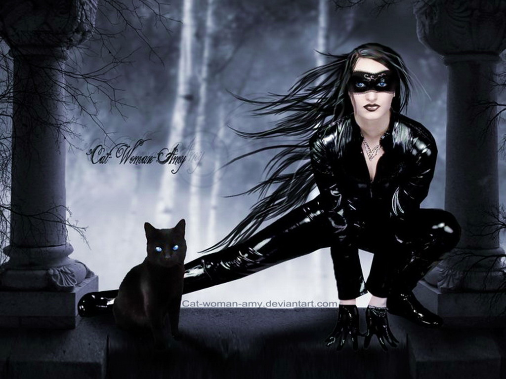 Black Cat Fantasy Girl, Gothic Girls