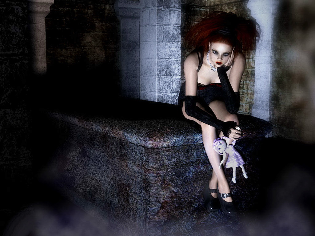 Dark Doll With Goth