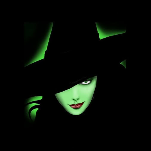 Green Witch In Hat