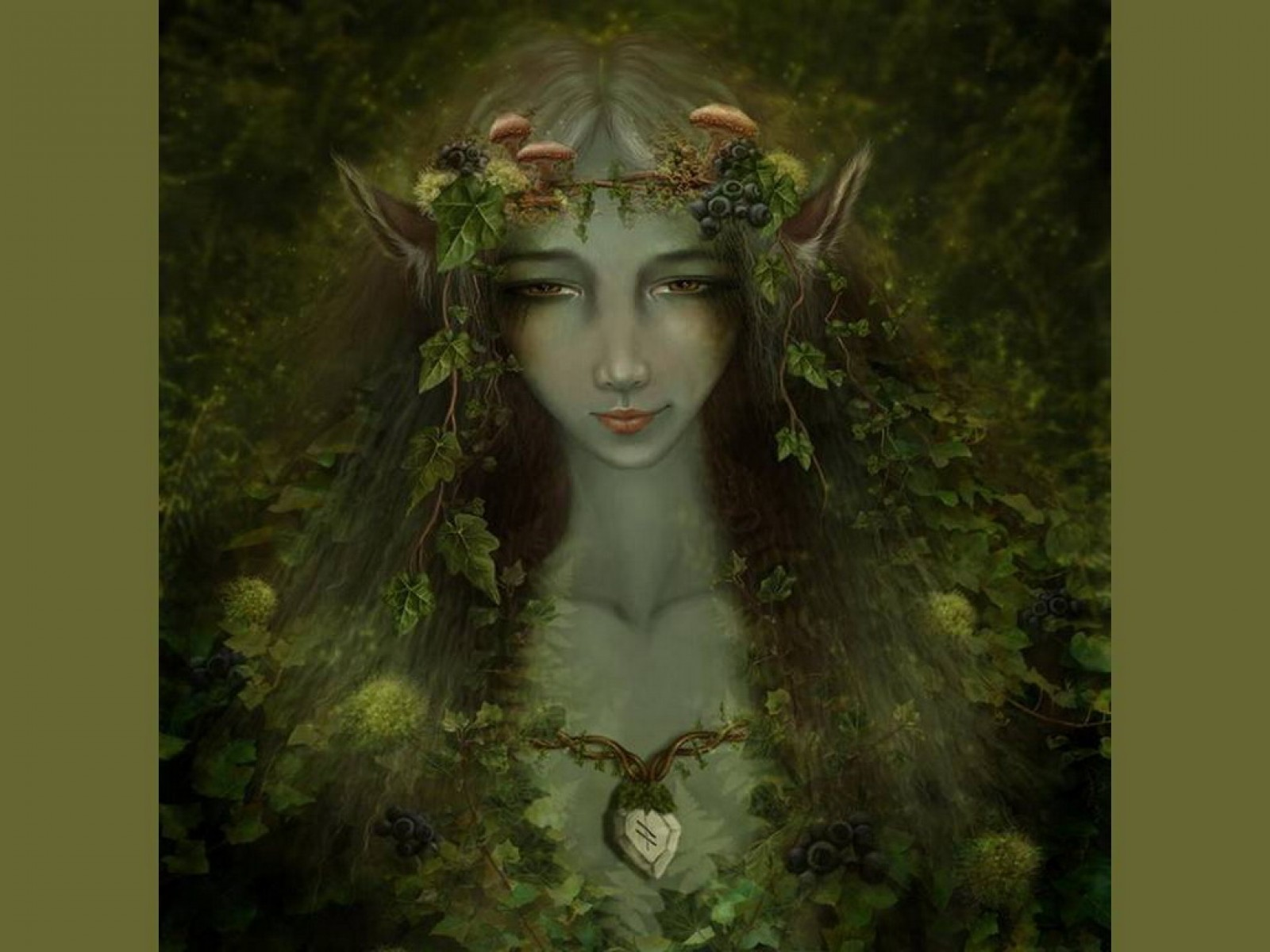 Green Elven Goddess