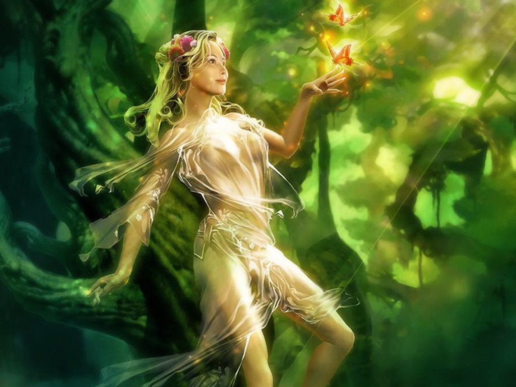 Green Fairy Of Forest