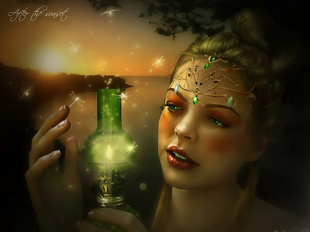 Green Magic Lamp