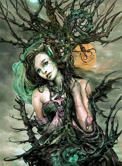 Green Witch In Chains