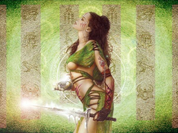 Green Witch Warrior