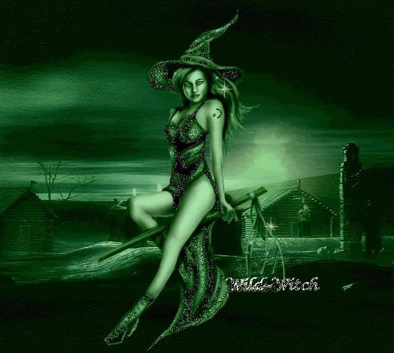 Witch In Green Light