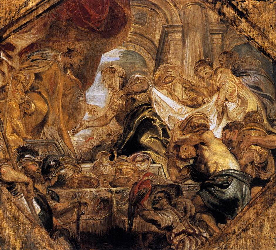 King Solomon And Queen Of Sheba Pieter Pauwel Rubens