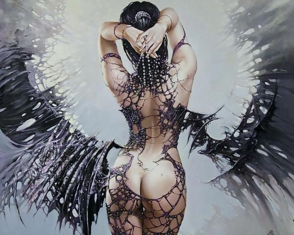 Black Wings Fantasy Girl