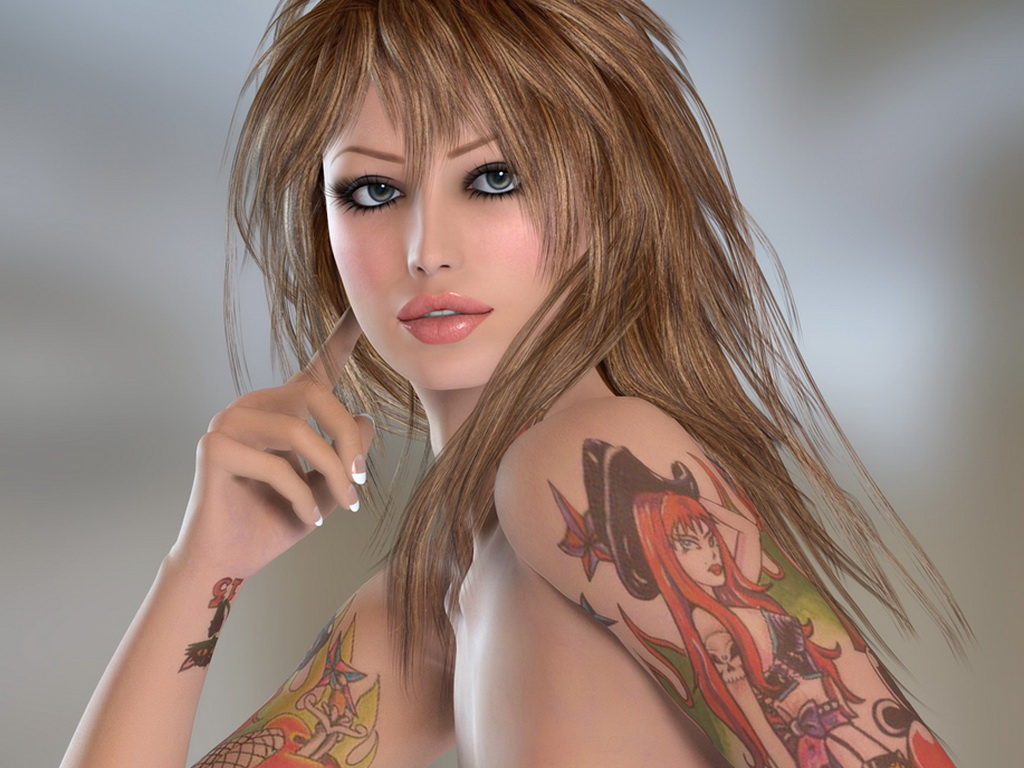 Fantasy Girls With Tats