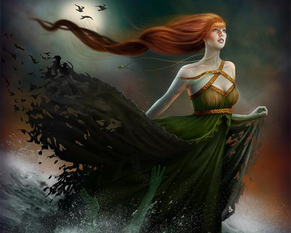 Girl Of Green Waters