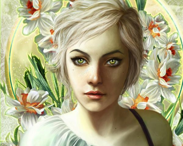 Girl Of White Flowers, Magic Beauties 3