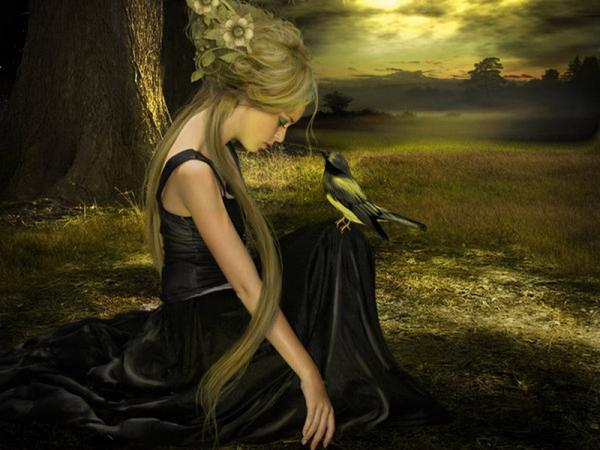 Loneliness Of A Girl On Dark Field, Magic Beauties 3