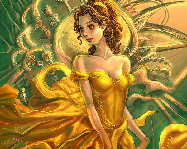 Magic Princess In Yellow Dress