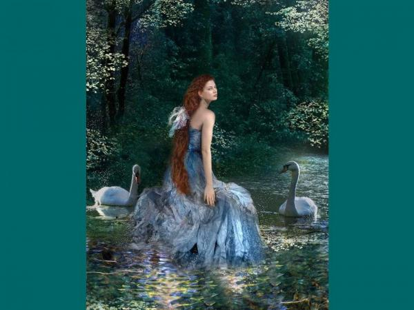 Swan Girl Of River