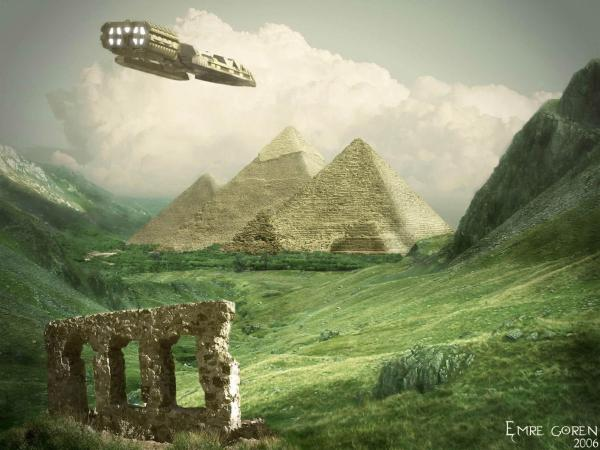 Aliens Near The Pyramids