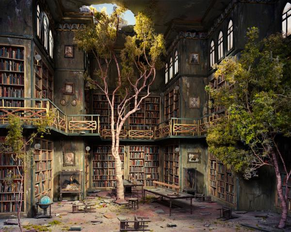 Ancient Library, Magical Landscapes 2