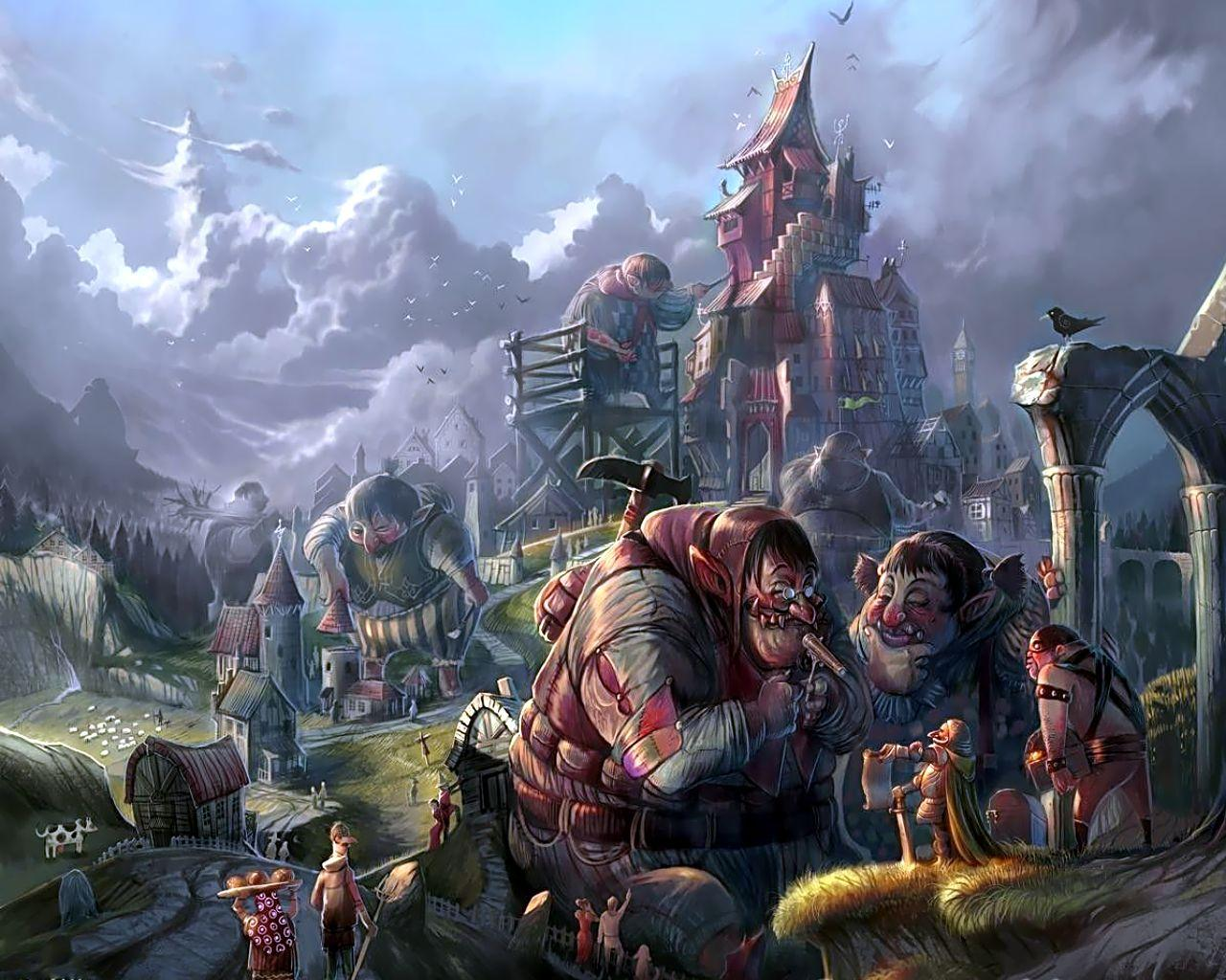 Town Of Dwarfs, Magical Landscapes 2