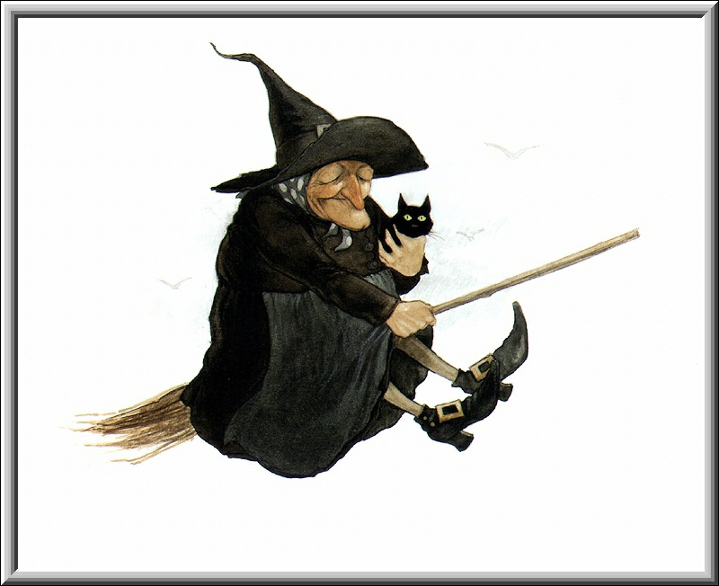 Halloween Witch Broom 1