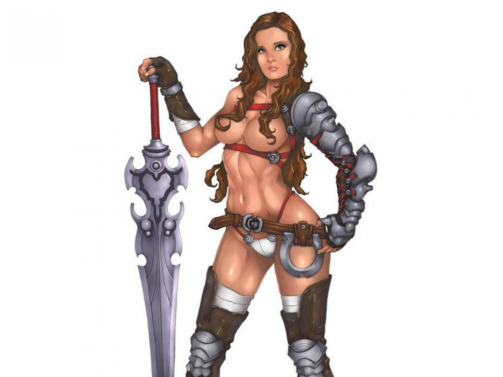 Girl Warrior With Great Sword