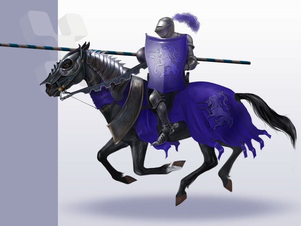 Black Knight On Horse