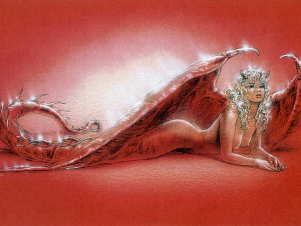 Red Demoness On The Floor Of World
