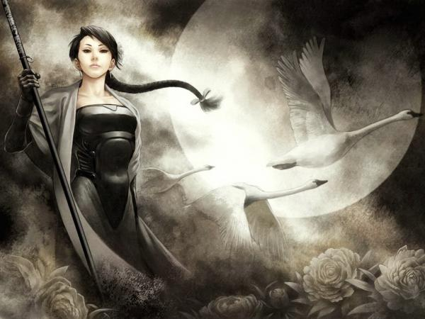 Warrior Girl And Swans, Warriors
