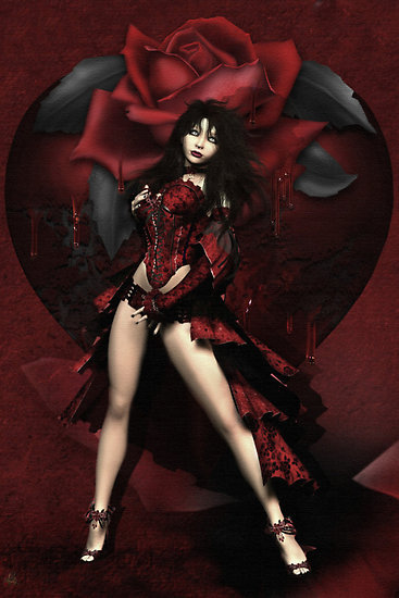 Red Wiccan Rose