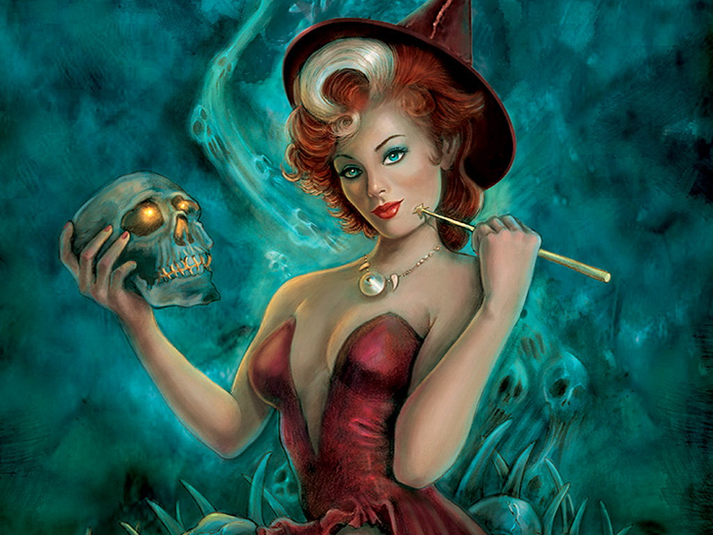 Witch And Shining Scull