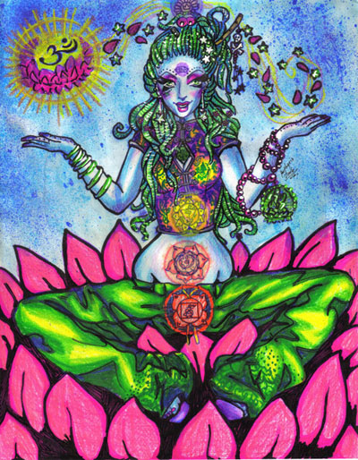 Flower Goddess, Yoga And Meditation