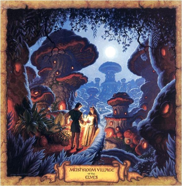 Mushroom Village Of The Elves