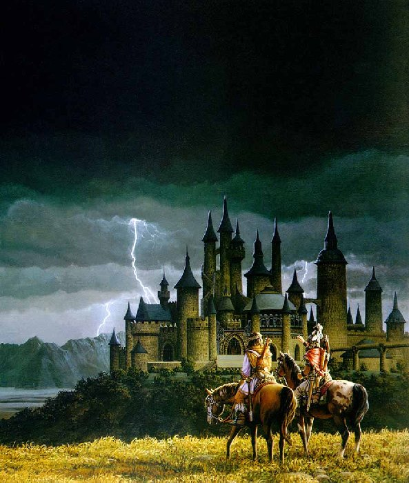 Horseriders And Castle, Fantasy Scenes 3