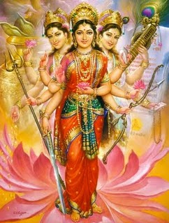 The Triple Goddes Shakti