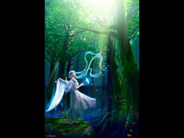Angel In A Mystical Forest