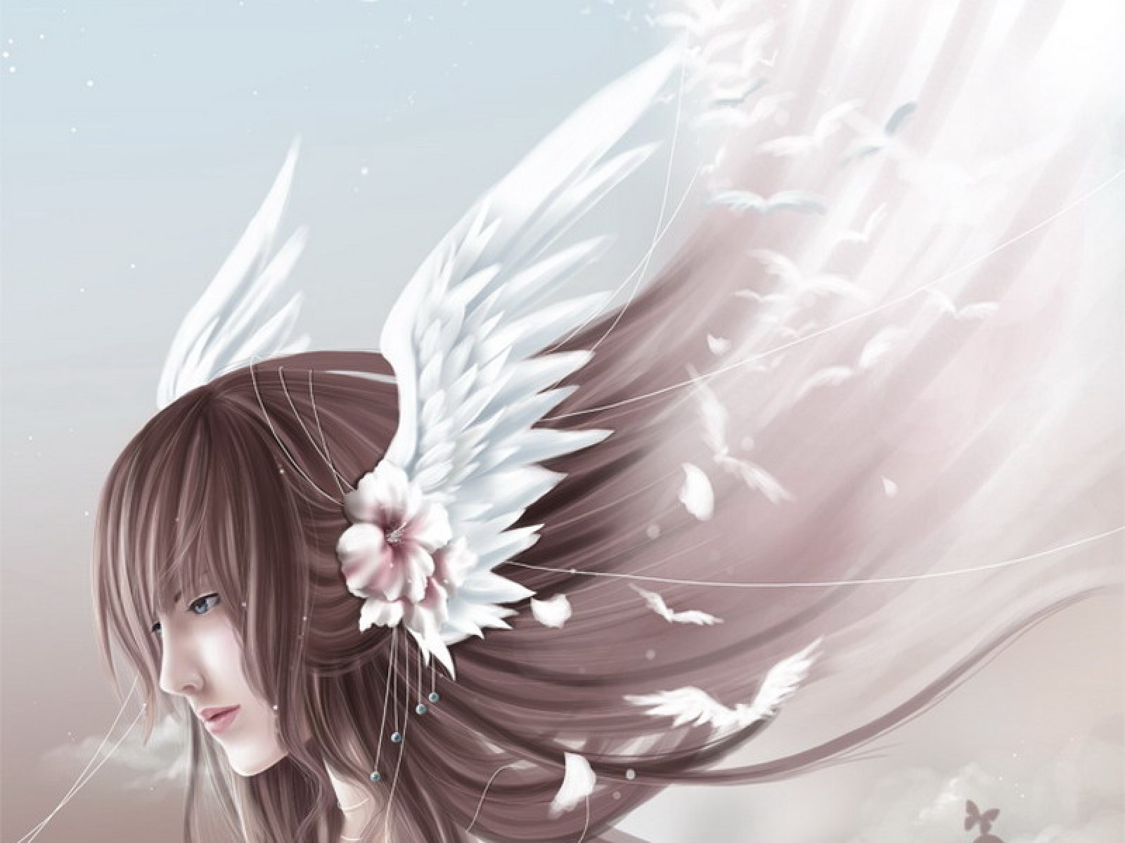 Angelic Wings In Hair