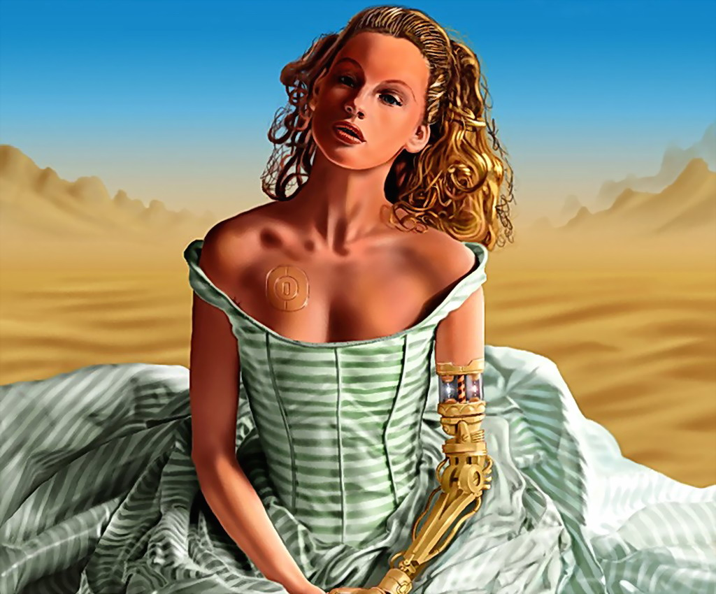 Cyber Girl In Desert