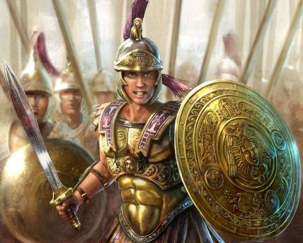 Warrior Of Sparta Before The Battle
