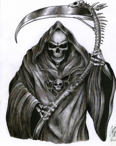 The Grim Reaper Tattoo By Demon Child97