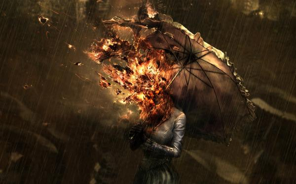 Burning Umbrella