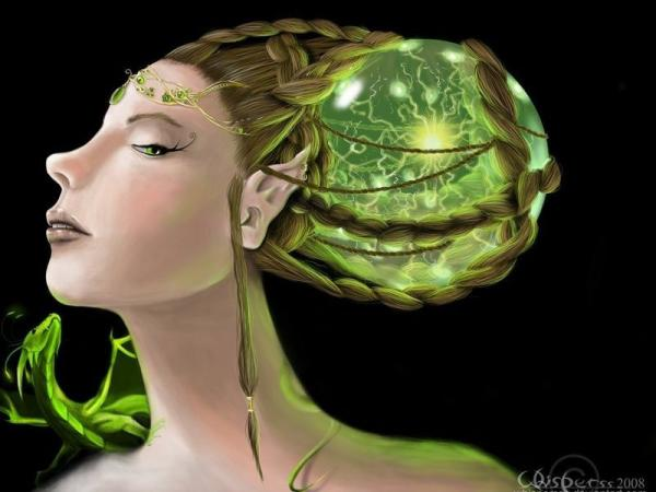 Elven Goddess Of Green Tree