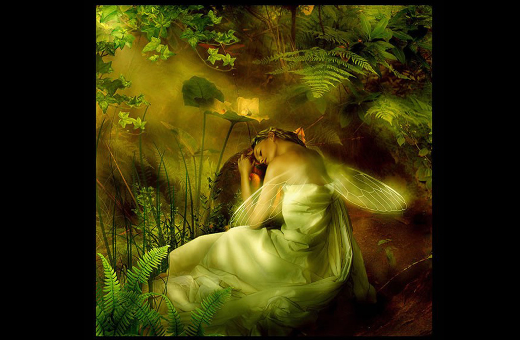 Sleeping Green Fairy