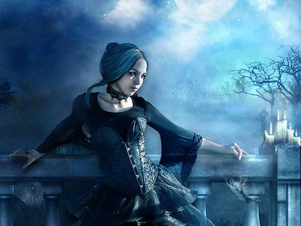 Gothic Princess In Moonlight