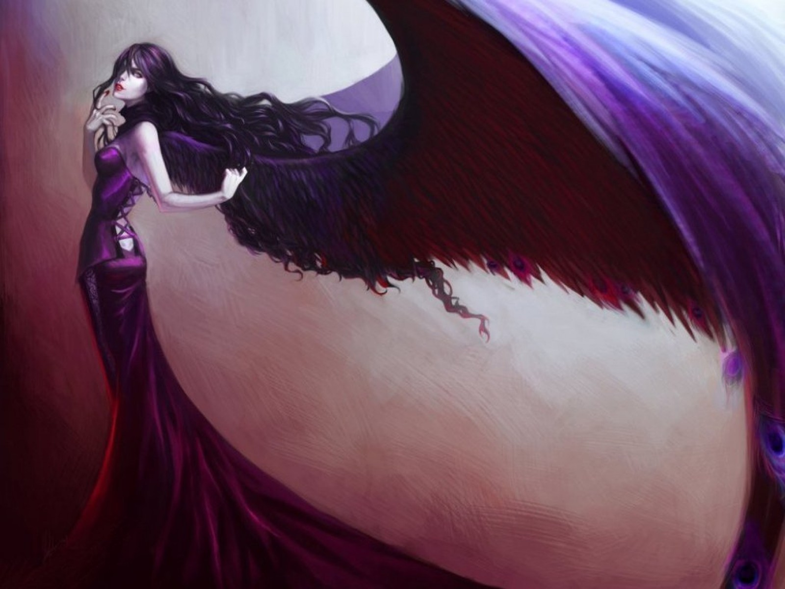 Lady With Purple Wings