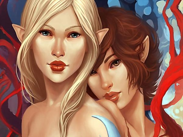 Elf Girls With Red Lips