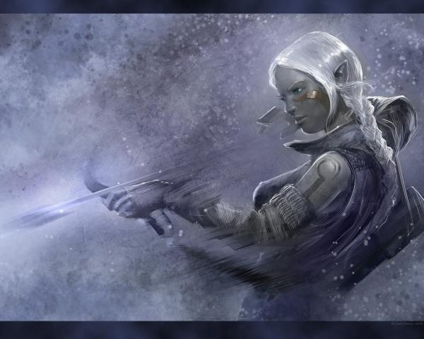 Elf Girl Snow Archer