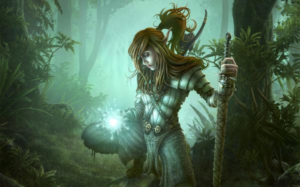 Elf Prince And Spell Of Nature