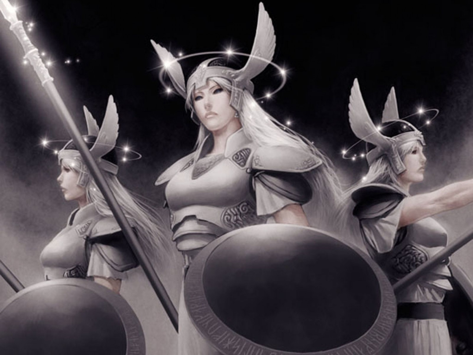 Three War Goddesses