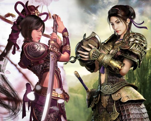Two Samurai Warriors Girls