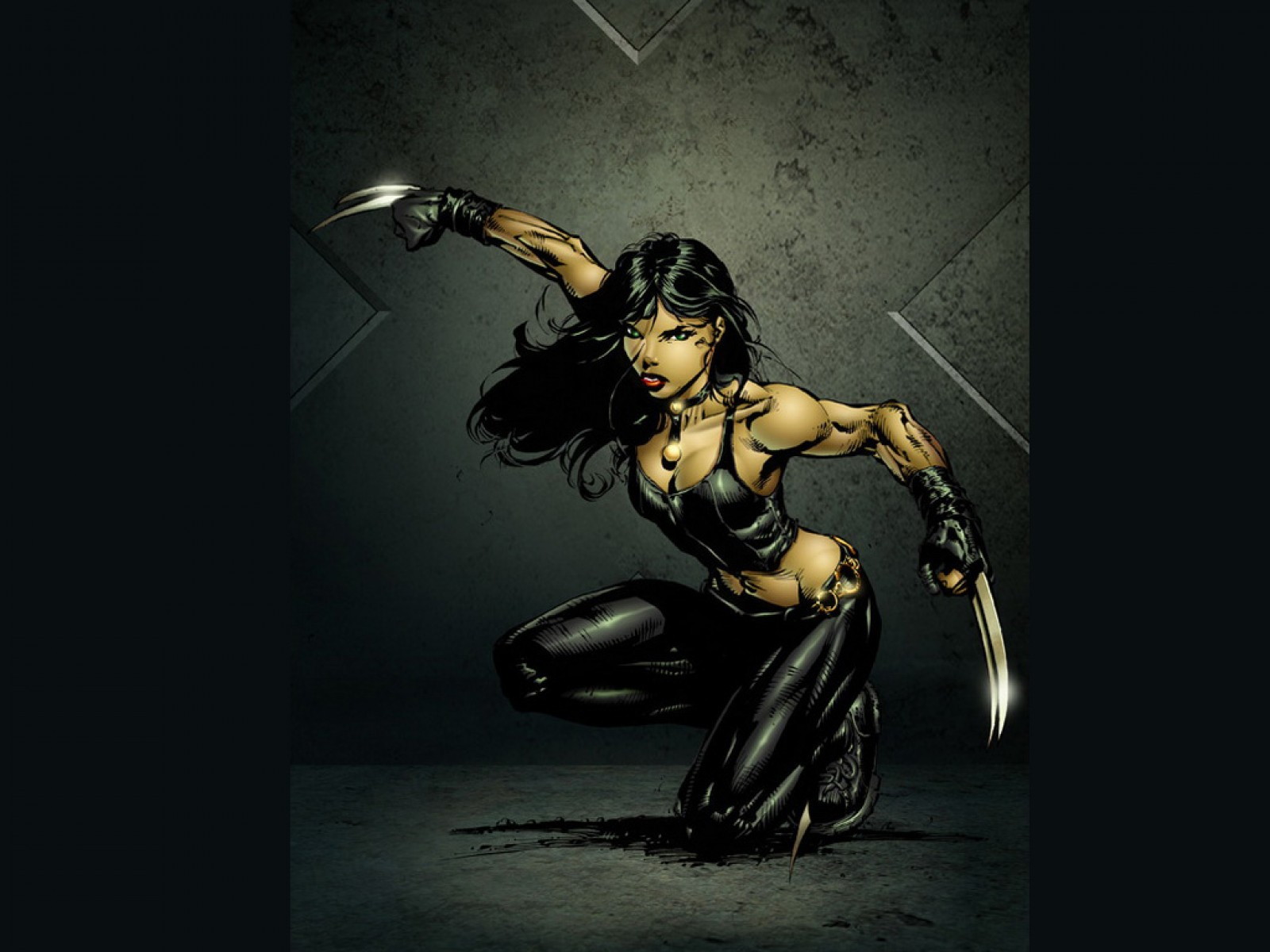 Black Warrior Girl Ninja