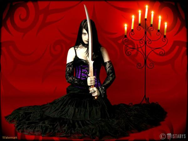 Gothic Girl With Sword