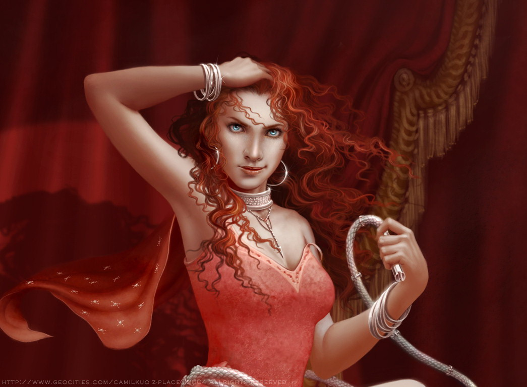 Girl With A Whip In Her Boudoir